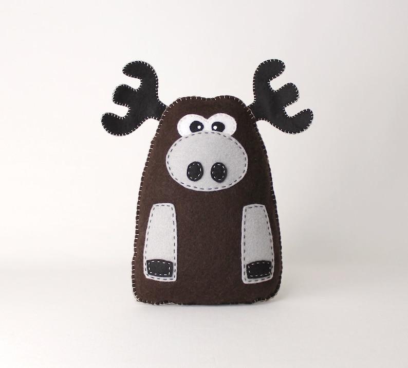 Moose Sewing Pattern Plush Felt Moose Stuffed Animal Sewing image 0