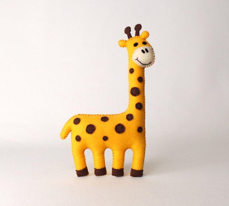 Giraffe Sewing Pattern Felt Giraffe Hand Sewing Plushie DIY image 0