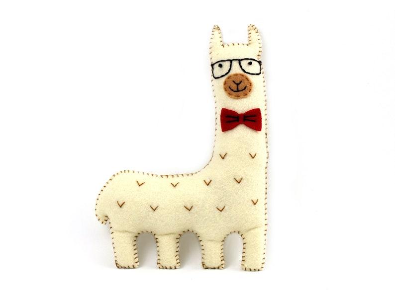 Llama Sewing Pattern Hipster Llama or Alpaca Sew Your Own image 0