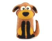 Dog Stuffed Animal Sewing Pattern, Stuffed Dog Felt Plushie Pattern, Dog Softie Pattern, Plush Dog Pattern, Easy Sewing Pattern, PDF SVG DFX
