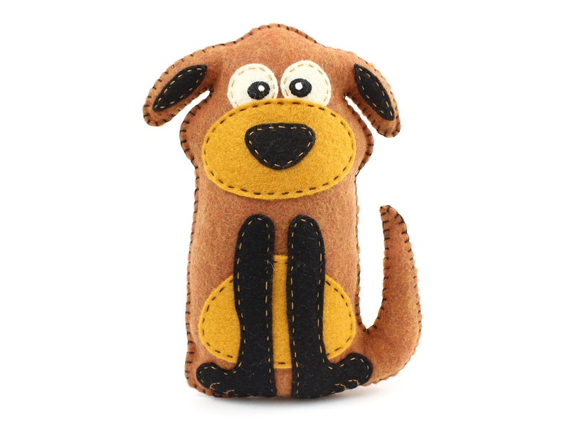 Dog Stuffed Animal Sewing Pattern Stuffed Dog Felt Plushie image 0
