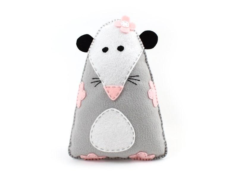 Possum Sewing Pattern Felt Rat Stuffed Animal Pattern Plush image 0