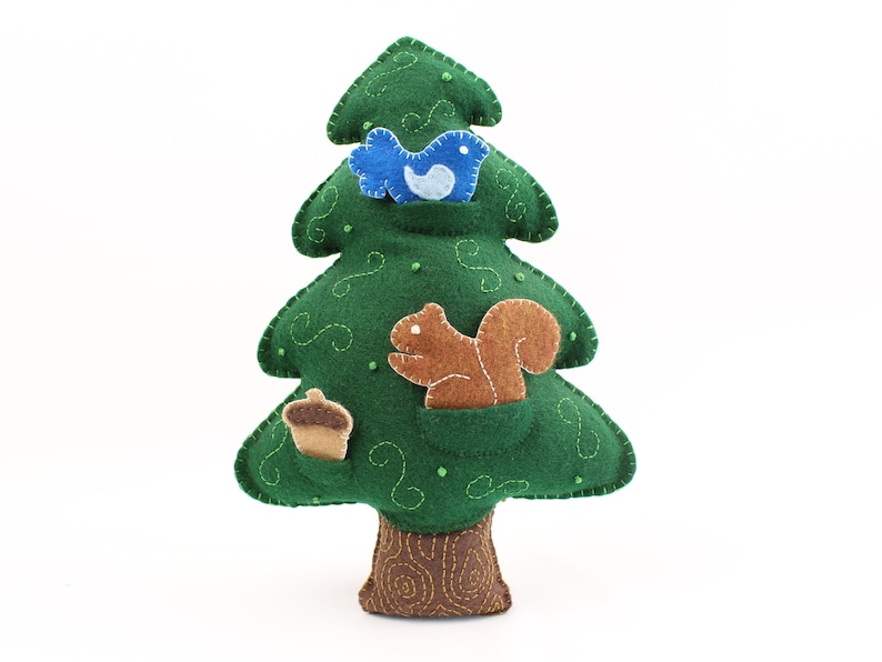 Felt Tree Pattern Evergreen Tree Sewing Pattern Hand Sew a image 0