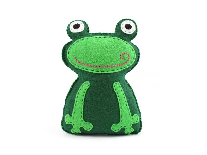 Frog Sewing Pattern Frog Stuffed Animal Hand Sewing Pattern image 0
