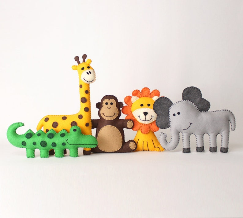 Jungle Safari Animal Patterns Easy Hand Sewing Pattern for image 0