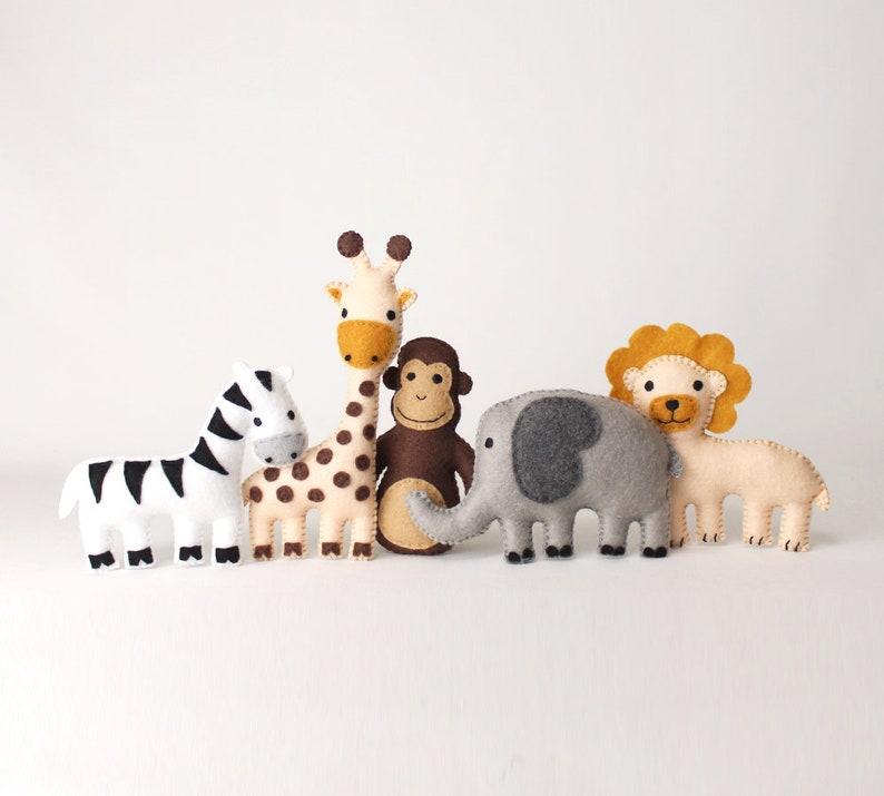 Jungle Animal Sewing Patterns Zoo Animal Hand Sewing Safari image 0