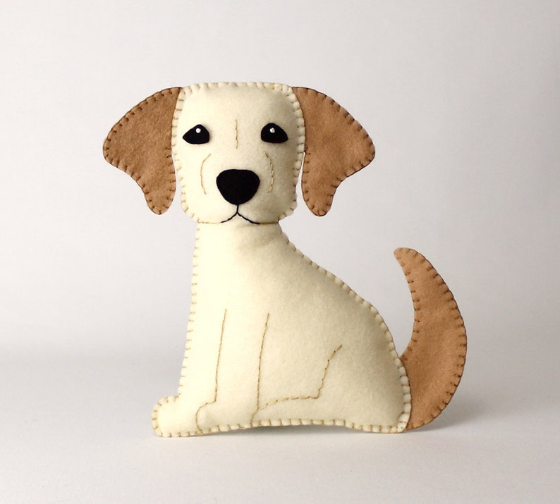 Golden Lab Sewing Pattern Dog Hand Sewing Pattern Felt image 0