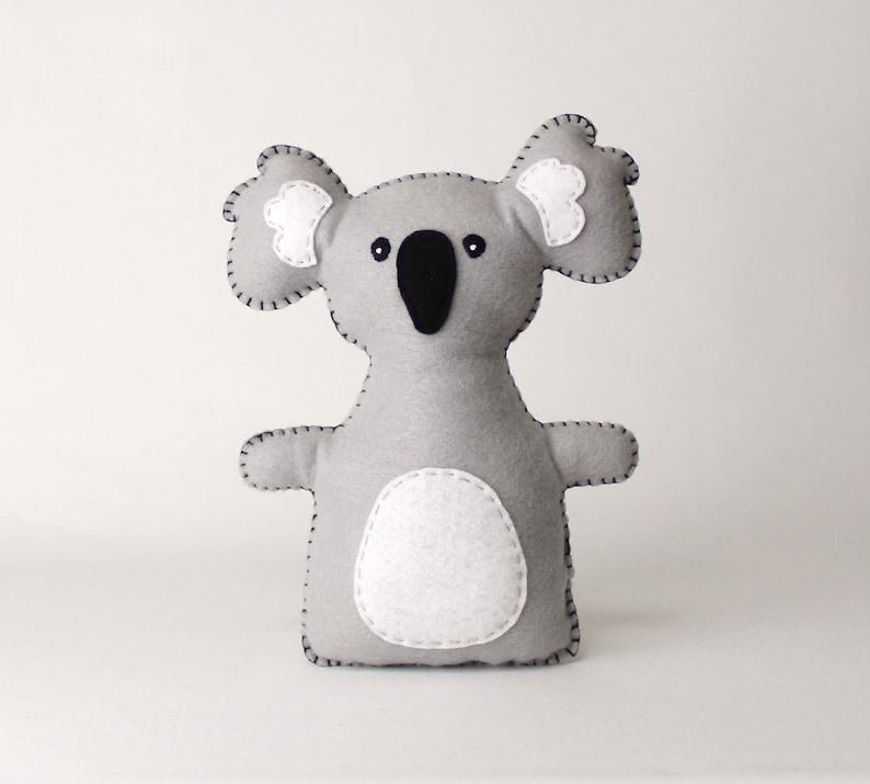 Koala Stuffed Animal Sewing Pattern Koala Hand Sewing image 0