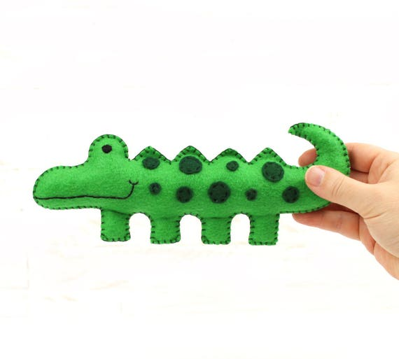 Crocodile Sewing Pattern Felt Alligator Pattern Sew By Hand Etsy