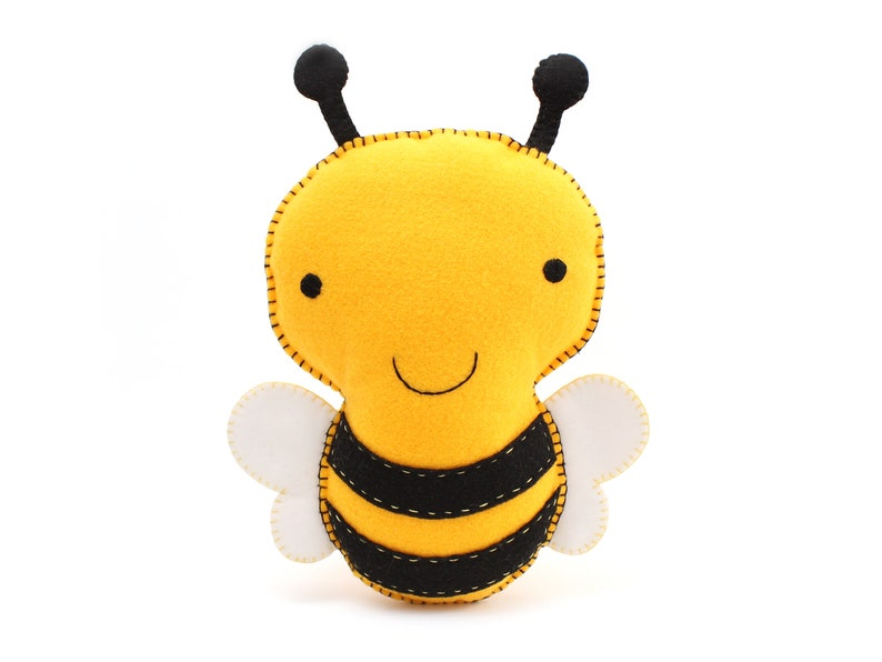 Bumblebee Sewing Pattern Stuffed Felt Bee Plushie Pattern image 0