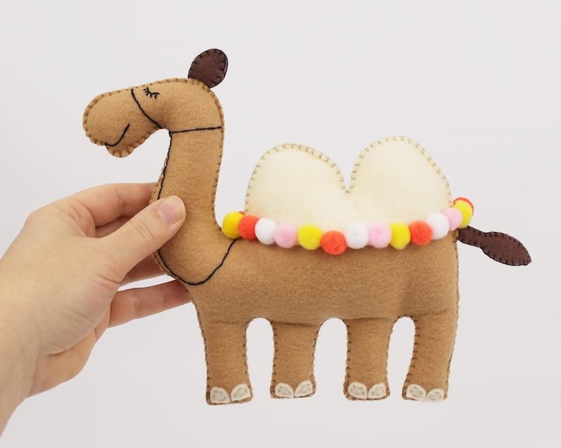 Camel Sewing Pattern Felt Camel Stuffed Animal Instructions image 0