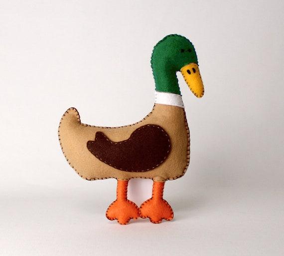 Duck Sewing Pattern Mallard Duck Hand Sewing Pattern Felt Etsy