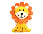 Lion Sewing Pattern, Felt Lion Hand Sewing Plushie, Sew a Lion by Hand from Felt, Instant Download, King of the Jungle, PDF SVG DFX