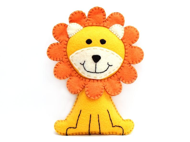 Lion Sewing Pattern Felt Lion Hand Sewing Plushie Sew a Lion image 0