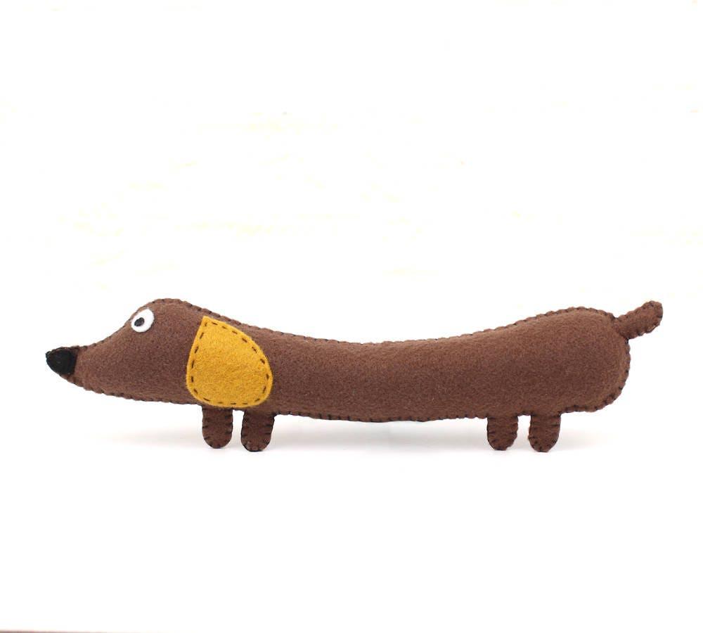 Wiener Dog Sewing Pattern Stuffed Dachshund Felt Soft Toy