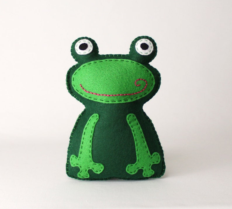 Frog Sewing Pattern Frog Stuffed Animal Hand Sewing Pattern image 0