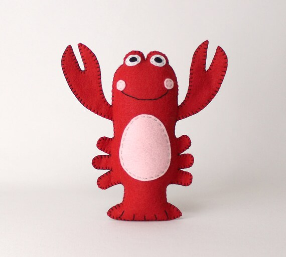 Lobster Sewing Pattern Stuffed Red Lobster Pattern Plush Etsy