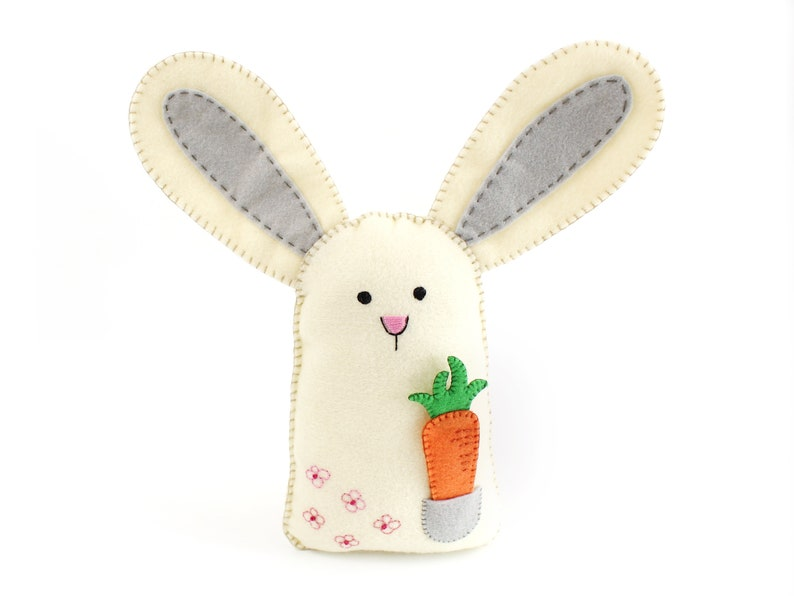 Bunny Sewing Pattern Felt Rabbit Hand Sewing Pattern with image 0