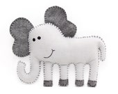 Elephant Sewing Pattern, Sew a Felt Elephant by Hand, DIY Stuffed Elephant Pattern, Sewing Tutorial, Instant Download PDF SVG