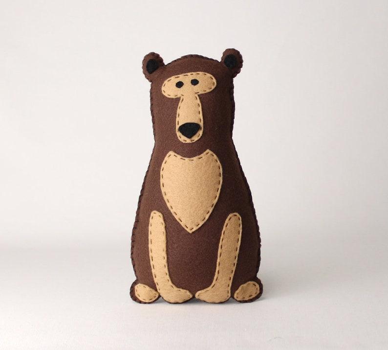 Stuffed Bear Sewing Pattern Felt Hand Sewing Bear Plushie image 0