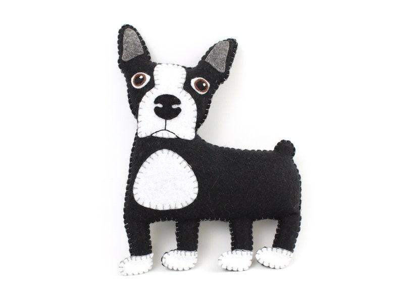 Boston Terrier Sewing Pattern Felt Dog Hand Sewing Pattern image 0