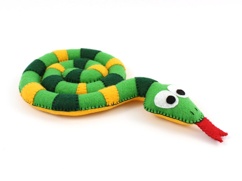 Snake Sewing Pattern Felt Plush Snake Hand Sewing image 0