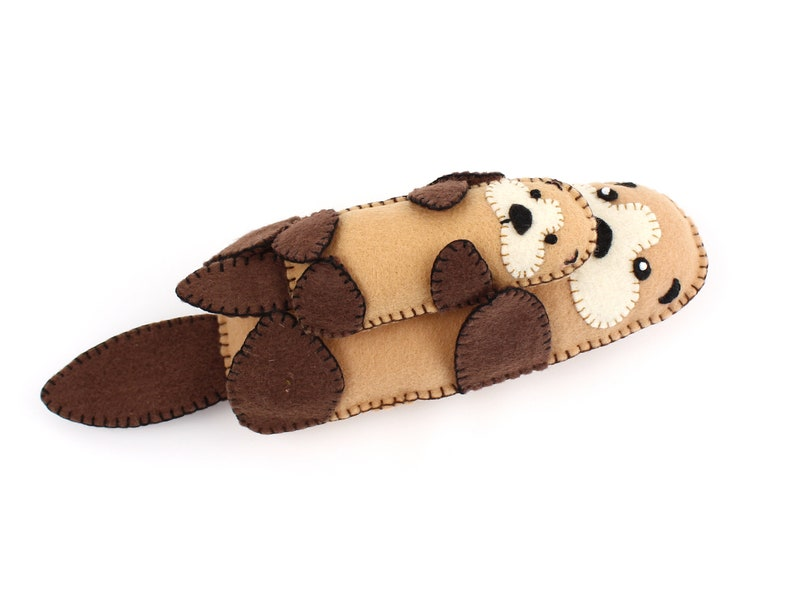 Otter Sewing Patterns Mom and Baby Otter Pup Hand Sewing image 0