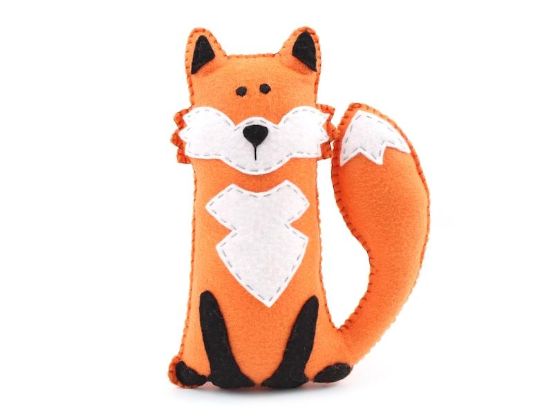 Felt Fox Pattern Stuffed Fox Hand Sewing Plushie Pattern image 0
