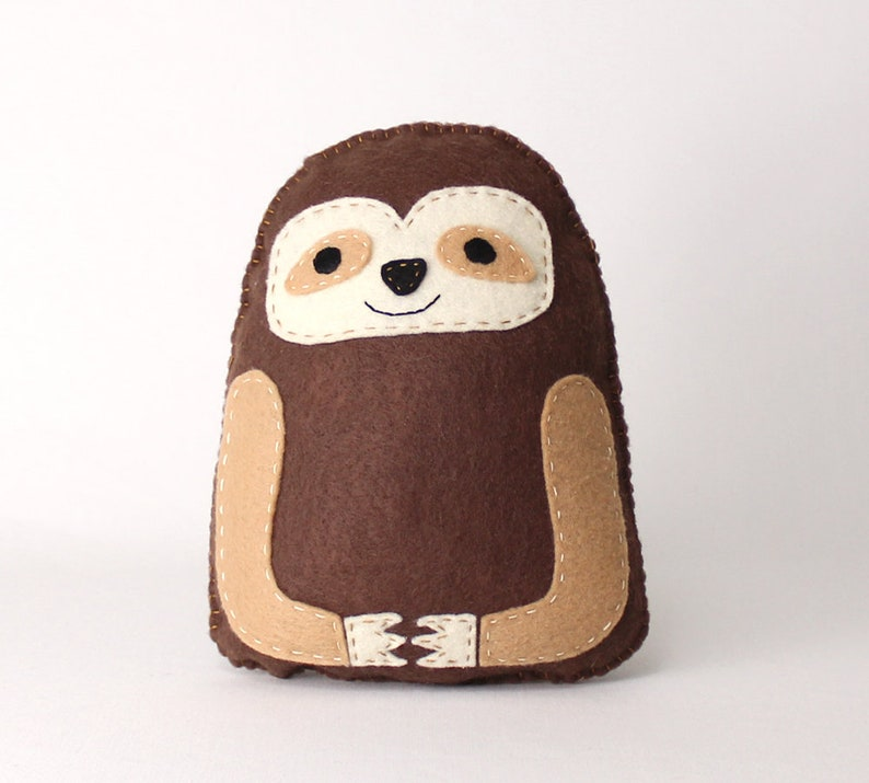 Sloth Sewing Pattern Hand Sewing Felt Sloth Softie Easy image 0