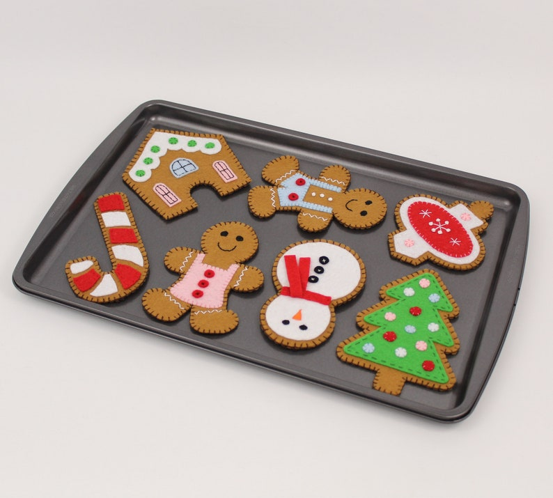 Gingerbread Cookie Sewing Patterns Instructions for Hand image 0