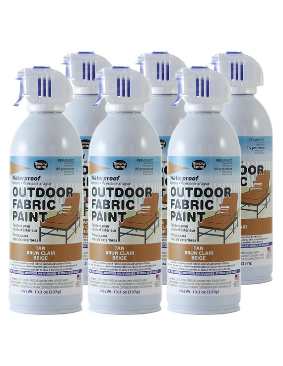 Simply Spray Outdoor Waterproof Fabric Spray Paint Tan 3 Etsy