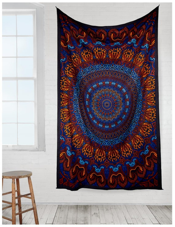 3d Origin Of Life Psychedelic Mandala Tapestry Tablecloth Etsy