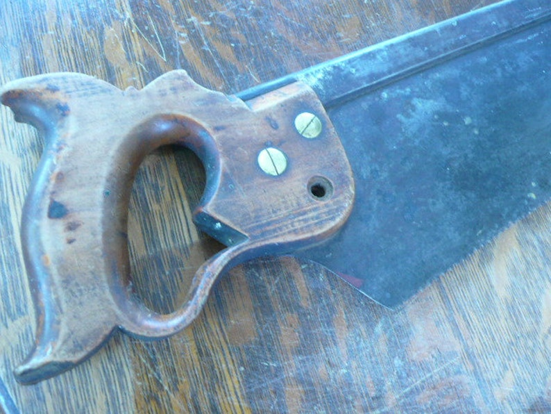 Rare Long H Collectible Disston and Son/'s Hand Saw from the late 1800/'s