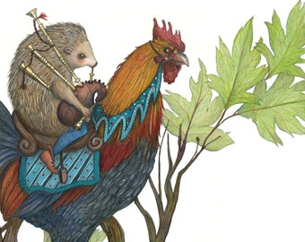 8x10 Grimm's Fairytale of Hans My Hedgehog, Color version