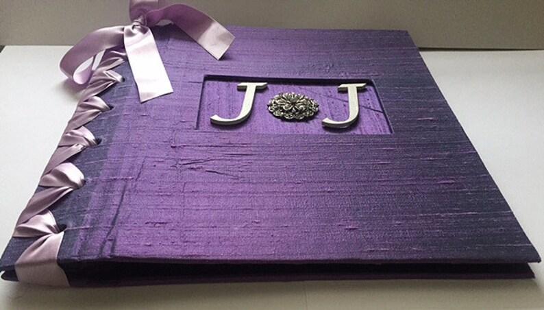 Lavender & White Photo Album Anniversary Album Personalized image 0