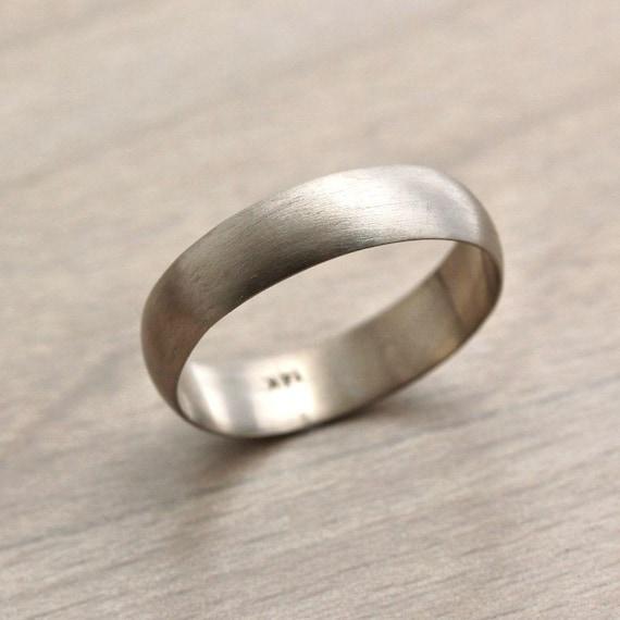 10K Yellow Gold Wedding Band Ring Ridged Standard Half Round Solid Polished 5 mm 5mm Half Round Edge B