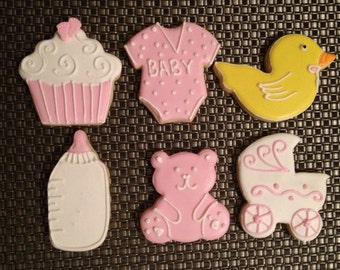 It's a Girl  Pink Sugar Cookies