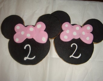Minnie Mouse Vanilla Sugar Cookies