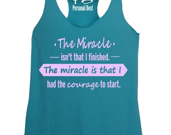 fb21bb471effd Running tank - Running tank tops - Running tanks for women -The miracle  banner tank