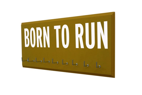 10 Hook Born To Run Medals Rack