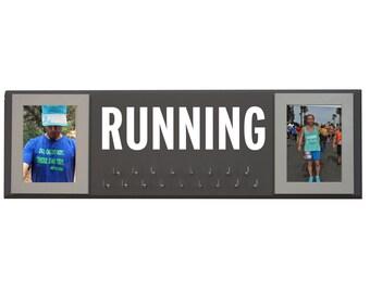Running Medal Display - Running medal rack - running medal and bib holder - race bib holder - Race medal holder - runners medal rack