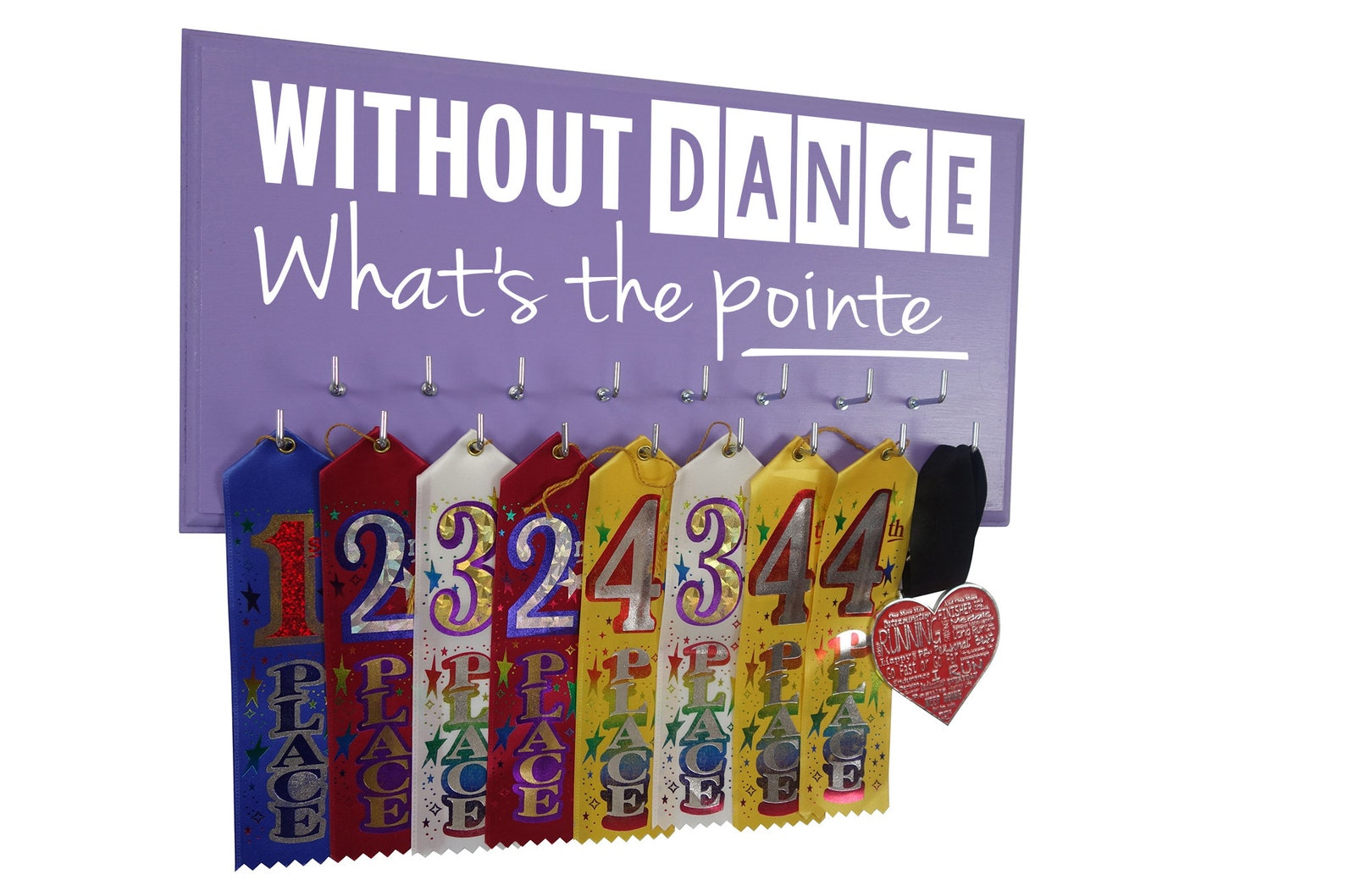 dancing gift - display your medals awards & ribbons from competition - dance hanger holder - wall mounted rack - ballet - pointe