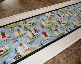 Second Anniversary Gift Holiday  Ships and Boats Parade Table Runner Gift for Grandma birthday gifts for her ** Gift for Mothers Day