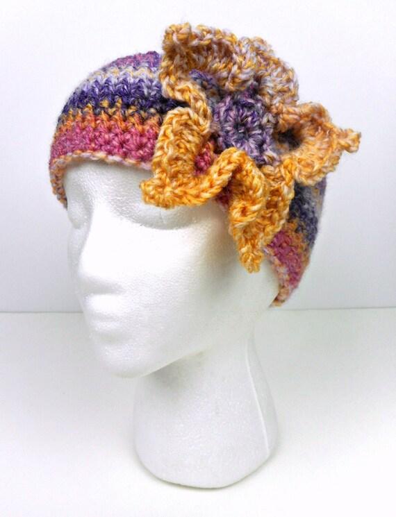 Rosa morado y amarillo Crochet multicolor oído calentador | Etsy