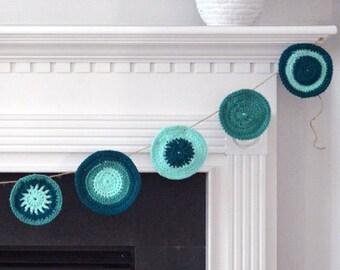 Jade Reef Crochet Bunting
