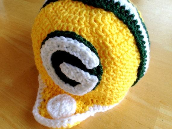 Green Bay Packers Helm häkeln Football Helm Hut für Kinder 5 | Etsy