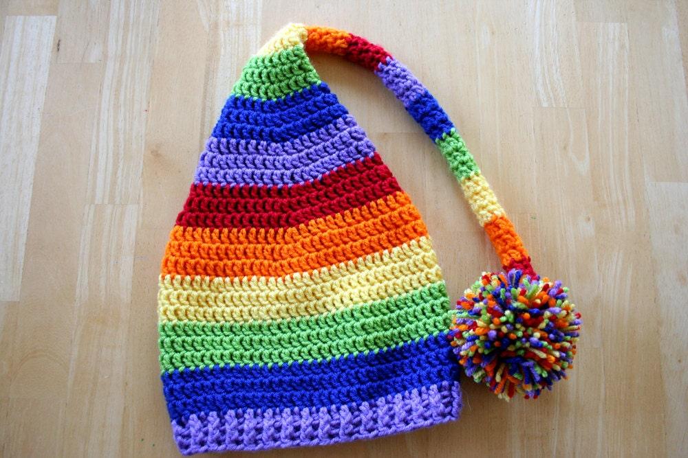 Regenbogen Baby Zipfelmütze Regenbogen-Strumpf-Hut
