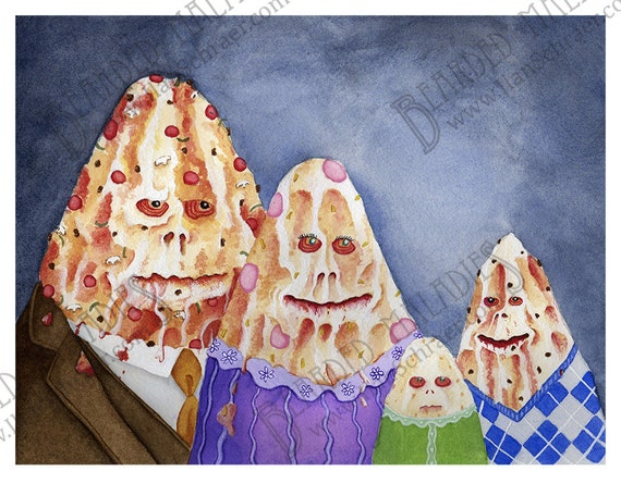 Spaceballs Pizza The Hutt Family Portrait 8x10 Print Star Wars Mel Brooks Jabba Return Of The Jedi Rotj