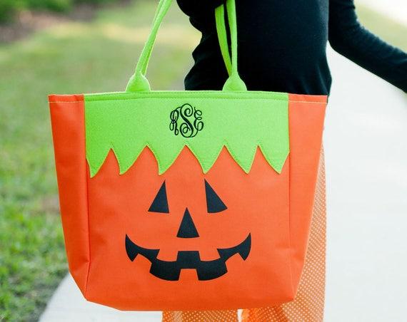 Jack-o-Lantern Halloween Tote