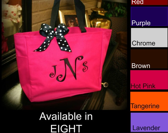 Tote with Black Accents in EIGHT Colors